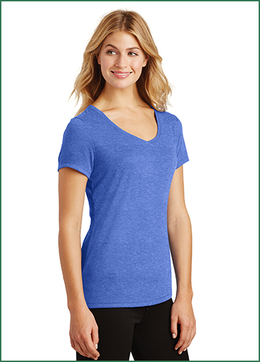 District Made Ladies Perfect Tri V-Neck Tee