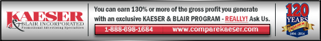 Advertisement:  Kaeser & Blair Inc