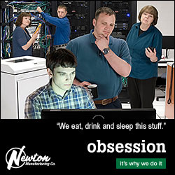 Advertisement: Newton Mfg