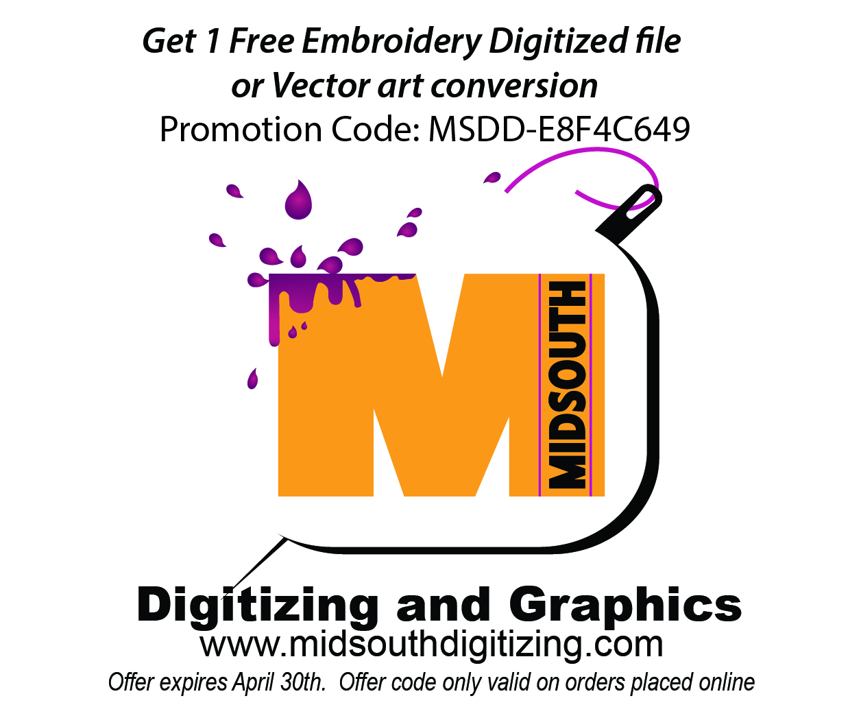 Advertisement: Midsouth Digitizing & Graphics