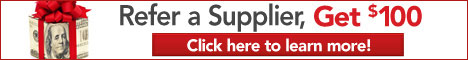 Advertisement:  Refer a Supplier, Get $100