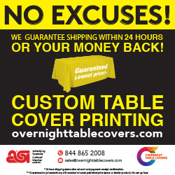 Advertisement: Overnight Tablecvers