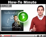 Counselor's How-To Minute: Sell Eco-Friendly Items