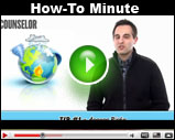 Counselor's How-To Minute: Prepare For A Major Disruption