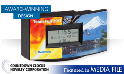Advertisement: Countdown Clocks Novelty Corp
