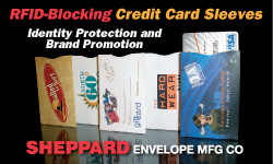 Advertisement: Sheppard Envelope Manufacturing Co.