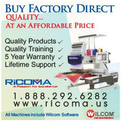 Advertisement: Ricoma International Corp.