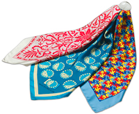 From KTP Design Co. (asi/63773), custom silk scarves available in both square and oblong styles.