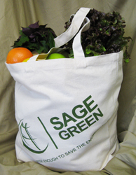 From Sage Green (asi/84290), an example of a reusable bag that's creating a sensation with shoppers of all ages and reducing the use of harmful plastic bags.
