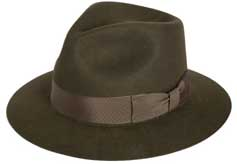 From Philadelphia Rapid Transit (asi/77945), the Wool Felt Pinched Fedora (9949) is just one of many hat styles growing in popularity. Expect particular interest in this style with the debut of the latest Indiana Jones film, The Kingdom of the Crystal Skull, in May.
