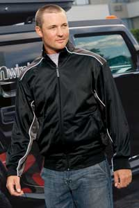 District Threads Track Jacket With Piping