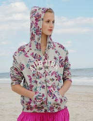 From MV Sport/Weatherproof (asi/68318), the new mulberry women's hoodie (W180) sports a hot new floral print that's sure to grab end-user attention.