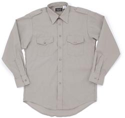 From MLF Sales (asi/68264), this shirt (1260), with working epaulets, is made from a polyester-cotton poplin blend.