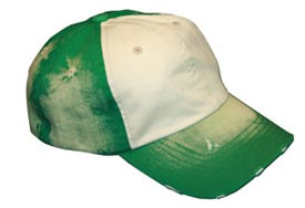 distressed green cap