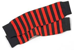 From Fox Run Sports (asi/55233), striped leg warmers that can be made it tons of different color combinations.