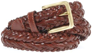 From Edwards Garment (asi/51752), the leather braided belt is back to fulfill all wearers' preppie desires.