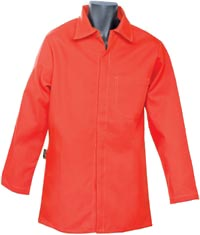 From Codet Newport Corp. (asi/45605), this 100% cotton twill coat in blazing orange.