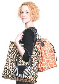 From JoAnn Marie Designs (asi/63381), animal prints are hot in apparel right now and sure to attract attention.