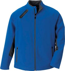 From Ash City (asi/37127), style 88621 is a three-layer soft-shell jacket with waterproof fabric and a shoulder pocket for an audio device.