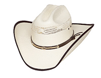 This Bangora straw western hat (HC-75) from Western Express (asi 96650)  features a leather-and-rope band. e5b820dd7773