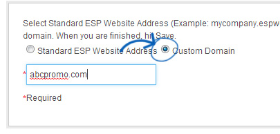 espwebsites settings domain