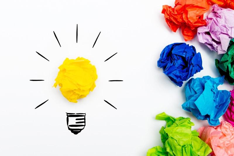 Colorful representation of an idea
