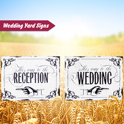 Yard Sign - Wedding