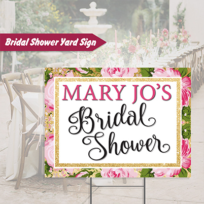 Yard Sign - Bridal Shower
