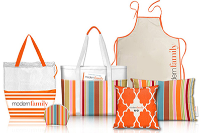 modern family bags and pillows