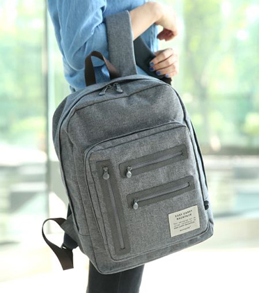 Heathered Gray Backpack
