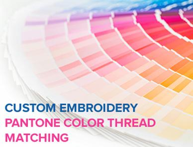 Custom Embroidery Pantone Color Thread Matching