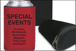 Special Events, wristbands, key chands and more