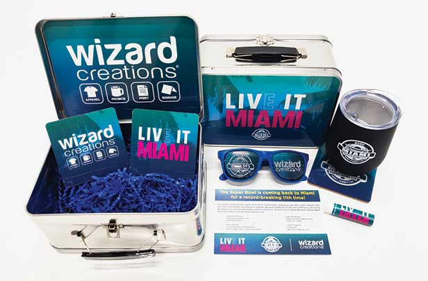 Wizard's self-promotional Super Bowl-related lunchbox kit