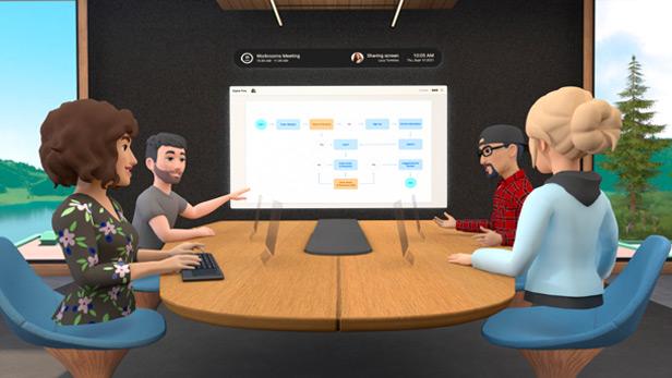 Facebook VR meeting
