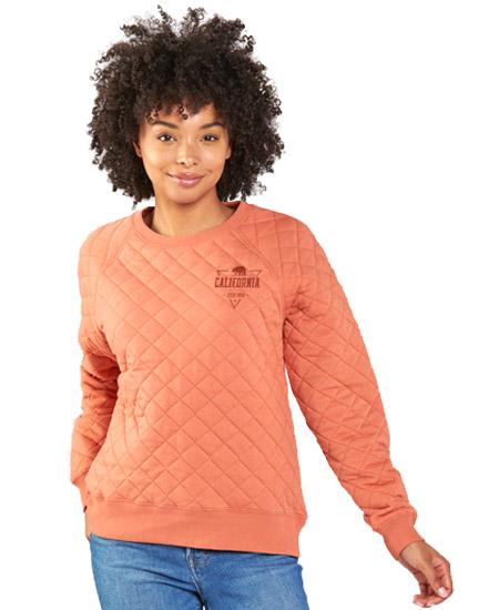 Quilted crewneck sweatshirt